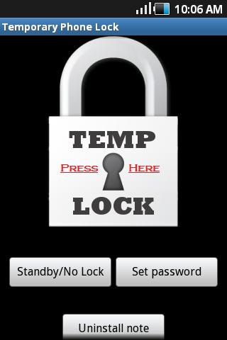 Temporary Lock - screenshot