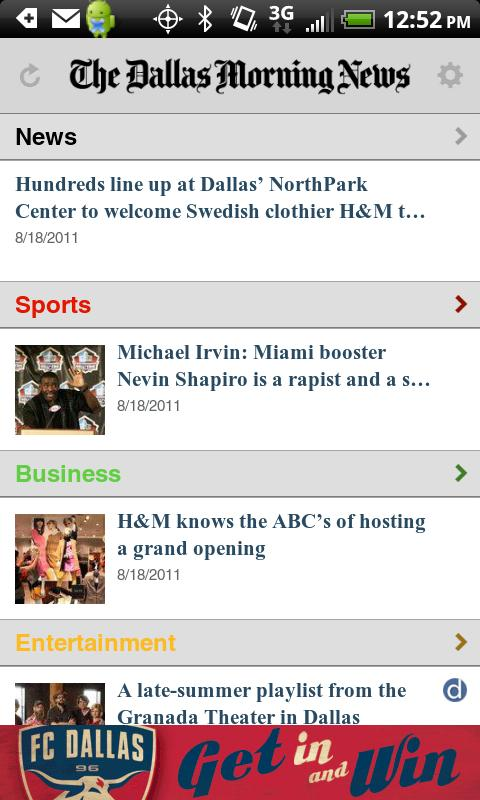 The Dallas Morning News - screenshot