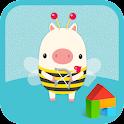 the little piggy dodol theme icon