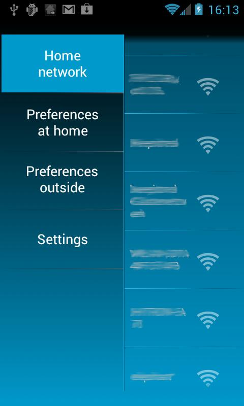 Home Settings - screenshot