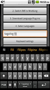 Tagalog Keyboard Plugin- screenshot thumbnail