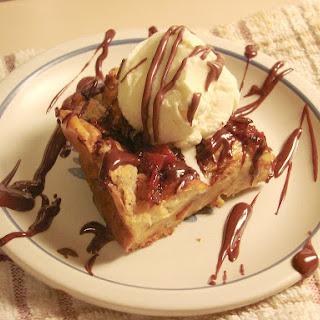 Bourbon and Bacon Chocolate Chunk Bread Pudding Recipe