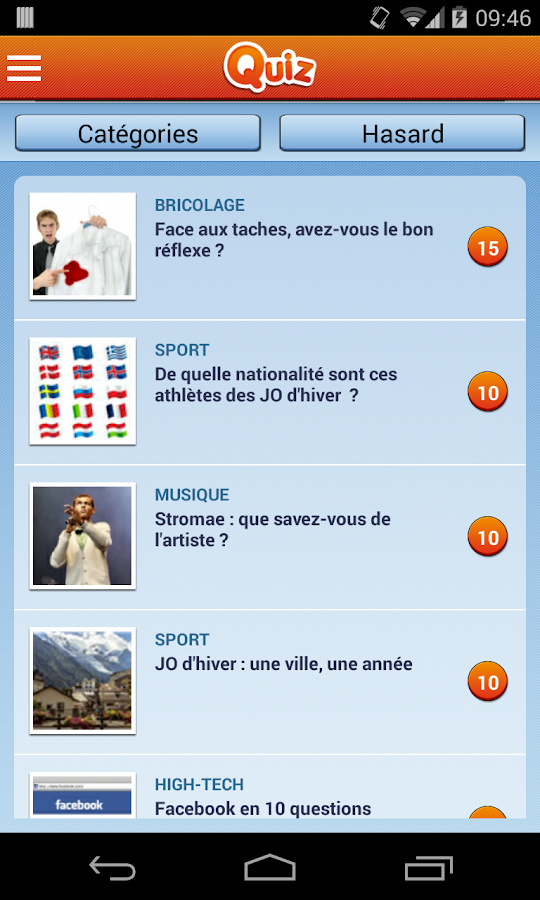 Quiz : Tests et quizz- screenshot