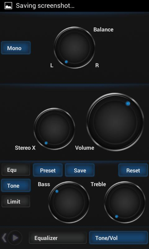 PowerAmp Dark Space Skin - screenshot