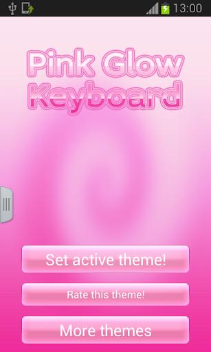 粉紅色夜光鍵盤主題