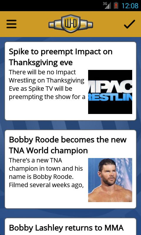 Wrestling-Online.com News Free - screenshot