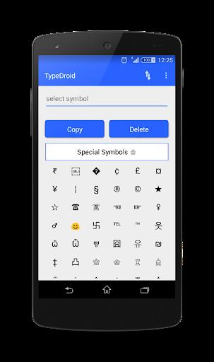 Type Droid 1000+ symbols