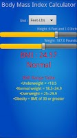 Screenshot of Easy BMI