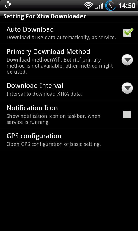 XtraData Downloader(A-GPS) - screenshot