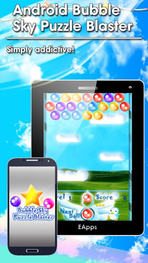 Android Bubble Sky Blaster - screenshot