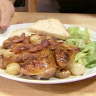 Cornish Game Hen With Bacon And Onions