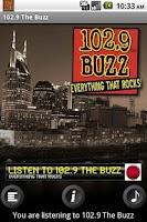 Screenshot of Nashville Rock 102.9 WBUZ