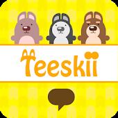 Hello Teeskii 2 카카오톡 테마 (4.0)