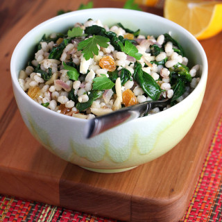 Pearl Barley with Spinach and Feta