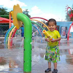 Fun in the sun by Dawnadine Yazzie-Harvey - Babies & Children Toddlers ( water, park, kids, fun, cute, toddler, laughter, smiles )