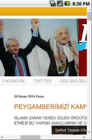 Fethullah Gulen FACTS- screenshot
