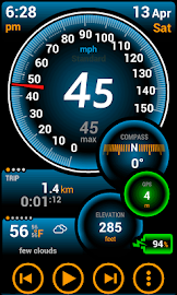 Ulysse Speedometer Pro Screenshot 1