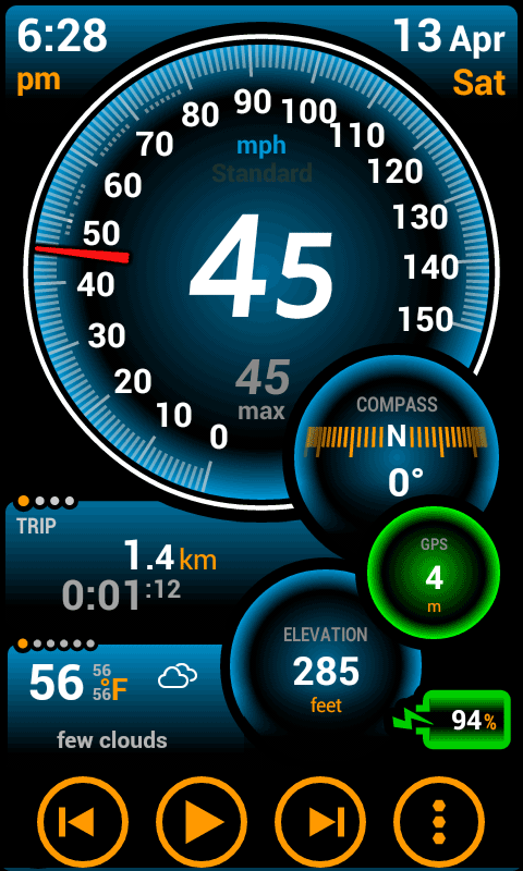 Ulysse Speedometer Pro Screenshot 0