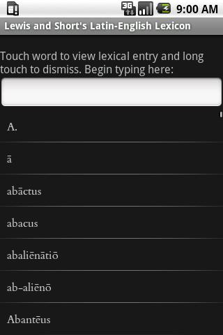 Lewis's A Latin Dictionary - screenshot