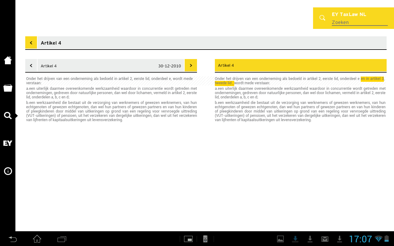 EY TaxLaw NL - screenshot