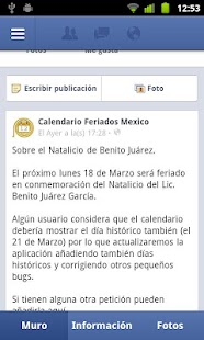 Calendario Feriados Mexico - screenshot thumbnail