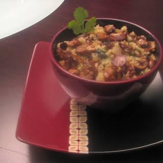 Cilantro & Mushroom Fried Quinoa.