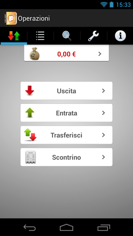 aMoney - Money management - screenshot