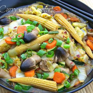 Napa Cabbage Vegetable Stir Fry