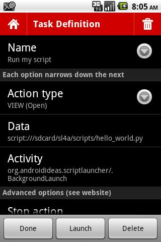 SL4A Script Launcher - screenshot