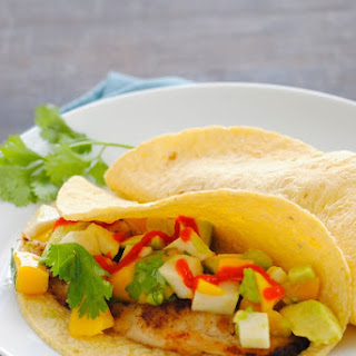 Grilled Fish Tacos with Summer Salsa.