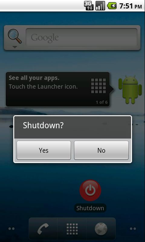Shutdown - screenshot