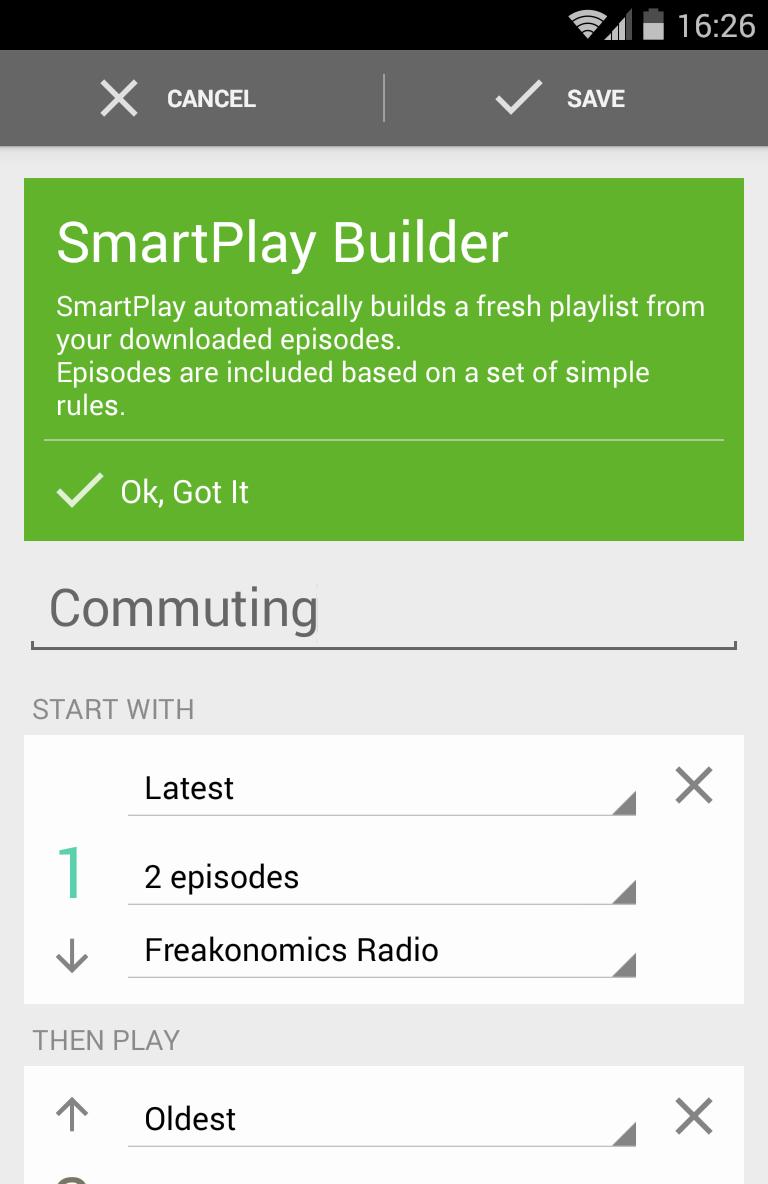 BeyondPod Podcast Manager Screenshot 5