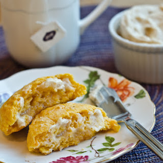 Sweet Potato Biscuits with Honey Butter.
