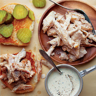 Alabama-Style Chicken Sandwiches with White Sauce.