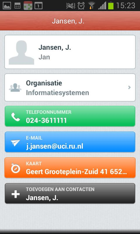 Address Book- screenshot