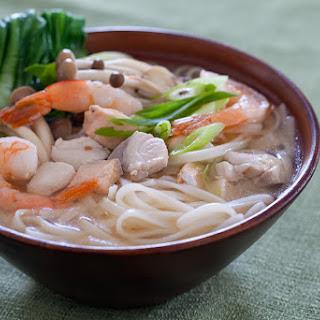 Seafood Miso Noodle Soup.