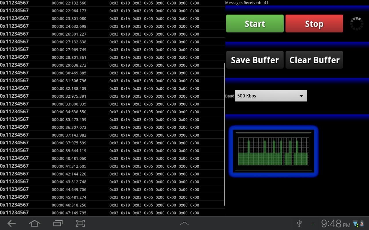 Can Bus Analyzer- screenshot