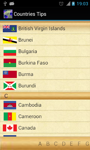 Countries Tips
