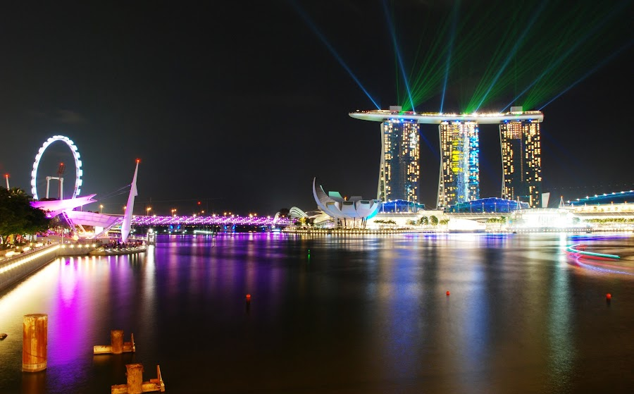Marina Bay Night Show by Reza M Adiatma - City,  Street & Park  Night (  )