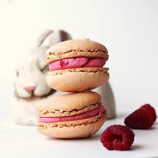 French Raspberry Cream Macarons.