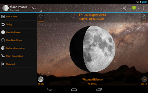 Moon Phases Widget - screenshot thumbnail