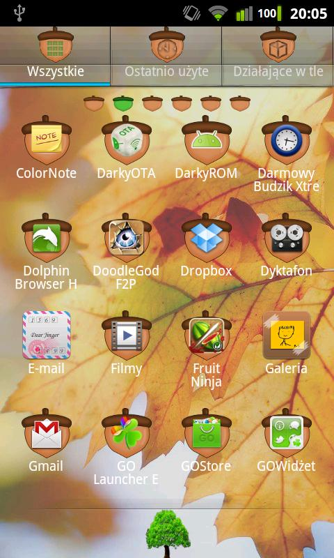 GO Luncher EX Theme Oak Tree - screenshot