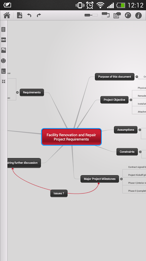 Mindomo (mind mapping) - screenshot