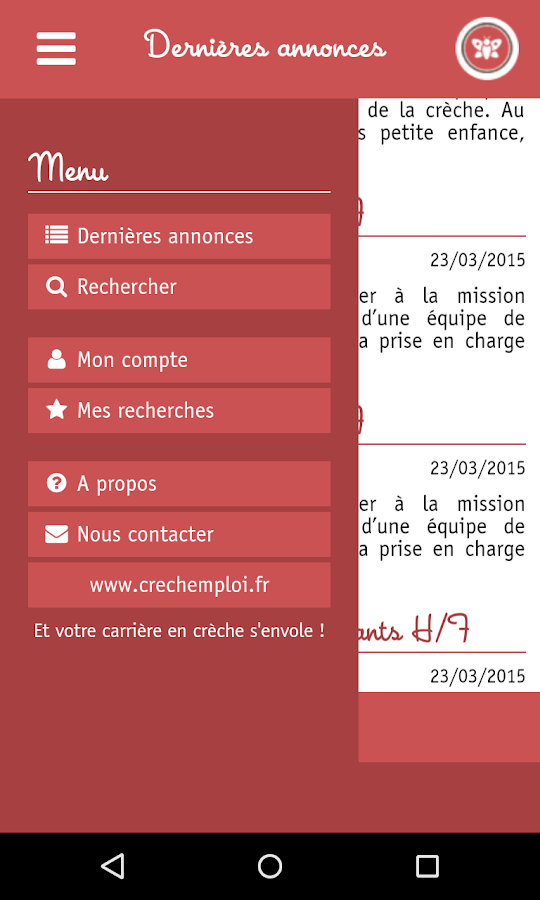Crèchemploi- screenshot