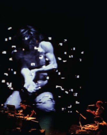 """<p> <a href=""""http://www.jamiegriffiths.com/gesture4/""""><strong>Gesture4</strong></a> by Jamie Griffiths, Noam Gagnon, Stefan Smulovitz, Viviane Houle</p> <p> <em>International Festival Musique Actuelle, Victoriaville, Quebec, 2008.</em></p>"""