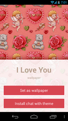 I Love You: wallpaper theme