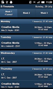 E-Timetable screenshot 1