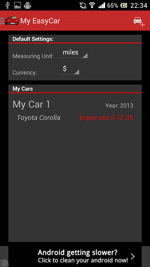 My EasyCar - screenshot