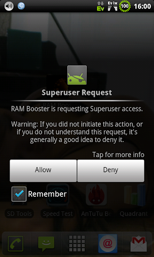 RAM Booster root