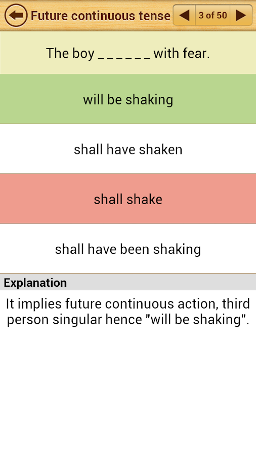 Grammar Express : Tenses - screenshot